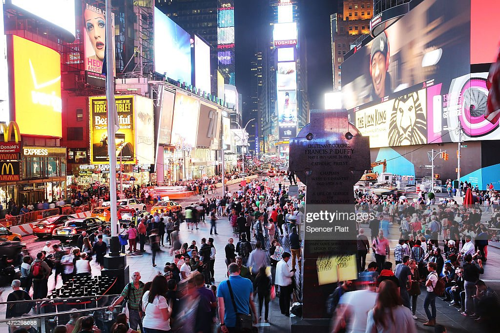 A light drenched Times Square on May 5 2015 in New York City In an effort to reduce Manhattan's carbon footprint New York's City Council is...
