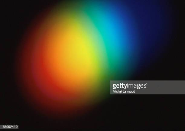 Light effect, blurry, rainbow colored.