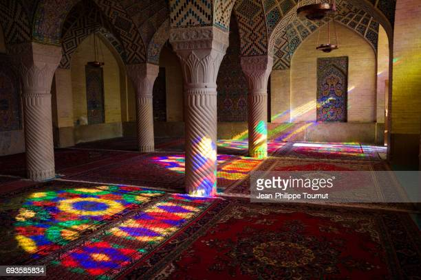Light effect in Nasir Al Molk Mosque, Shiraz, Fars Province, Iran