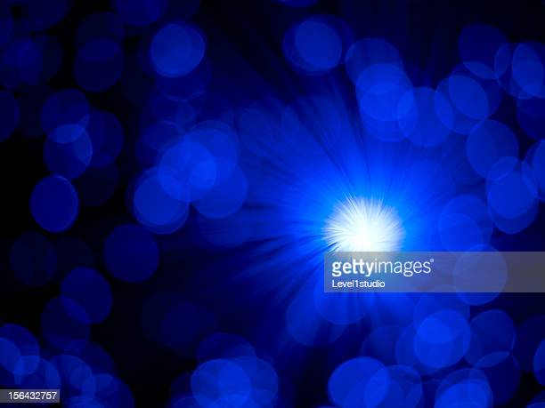 Light effect of blue background