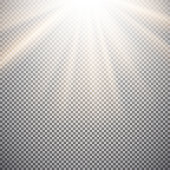 Light effect on a checkered background