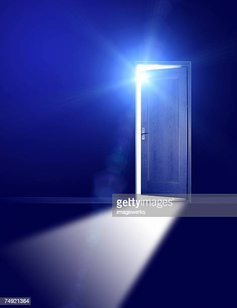 Light emitting out of a doorway