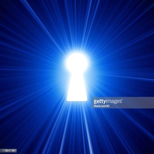 Tageslicht durch Schlüsselloch-Ausschnitt