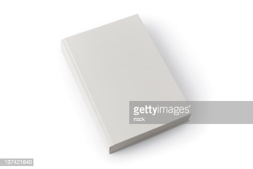 Light gray blank book with shadow against white background
