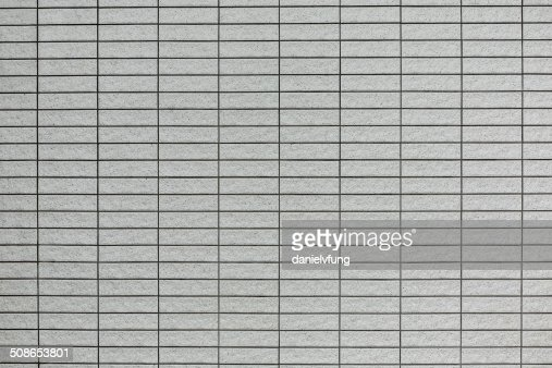 Light grey tile wall : Stock Photo