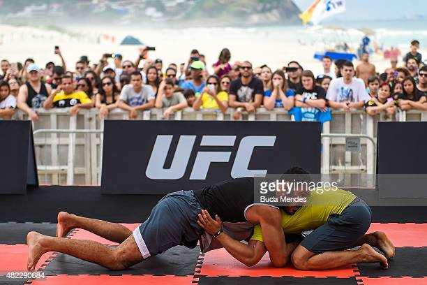 Light heavyweight contender Antonio Rogerio Nogueira of Brazil holds an open training session at Pepe Beach on July 29 2015 in Rio de Janeiro Brazil