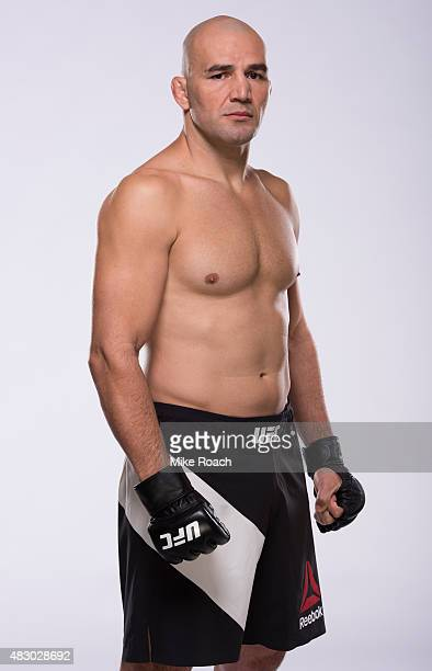 UFC light heavyweight Glover Teixeira poses for a portrait during a UFC photo session on August 5 2015 in Nashville Tennessee