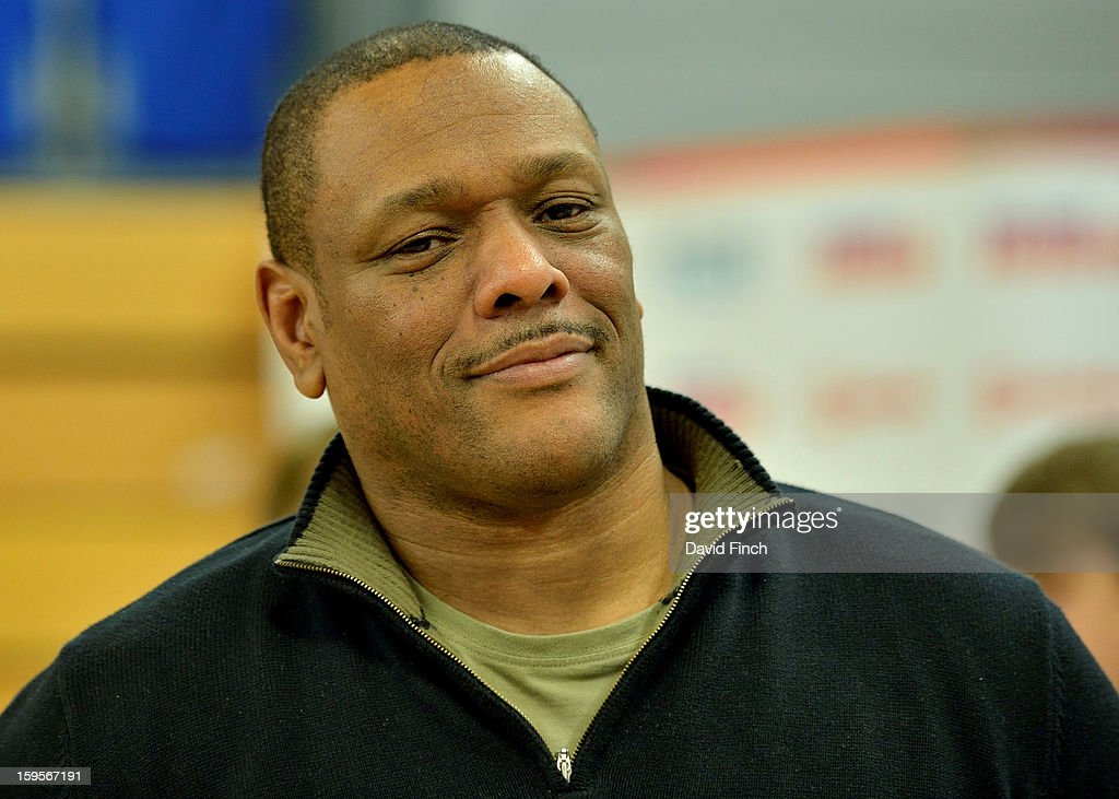 Light heavyweight Olympic bronze medallist at the 1988 Seoul Olympics, Dennis Stewart from Wolverhampton, presented the medals during the British Cadet and Pre-Cadet Judo Championships on day 2, Sunday, January 13, 2013 at the English Institute of Sport, Sheffield, England, UK.