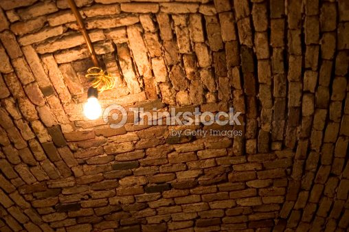 light in a dark basement : Stock Photo