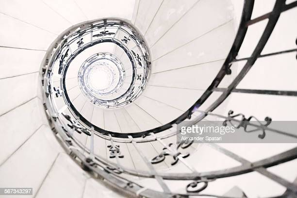 Light in the end of a spiral staircase