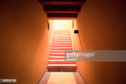 Light in the staircase : Stock Photo