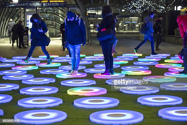 Light installation in the Docklands area, London