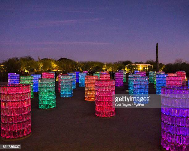 Light Installations On Desert