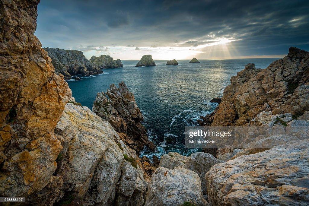 Light is on the rocks