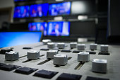 light, mixing desk fader in blur television gallery