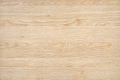 Light natural wood board composed of six logs. All boards have a strong clear texture of wood and some contain knots. The plank is new and clean. A wood grain pattern featuring even grains of wood run