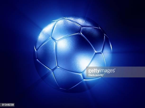 Luz de plata pelota de fútbol