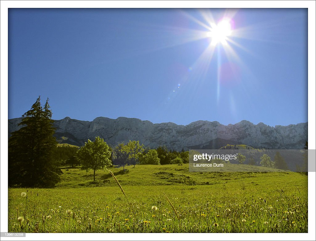 Light on Vercors : Stock Photo