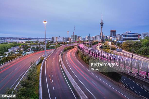 Light Path Cycleway Auckland City Highway New Zealand