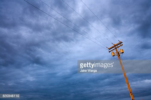 Light pole and cloud, Central Washington