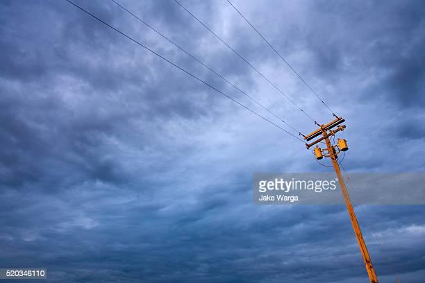 Light pole and cloud, Central Washington