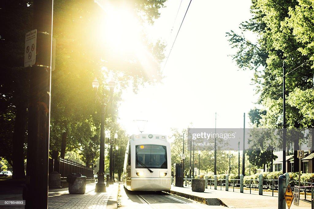 Light Rail Commuting in Portland