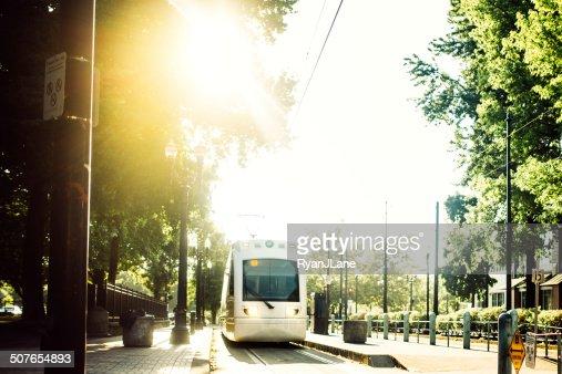 Treno pendolari a Portland