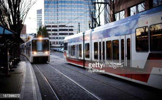 Treno pendolari Portland Oregon