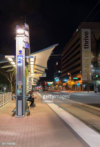 Light Rail Stop near Central Station Phoenix