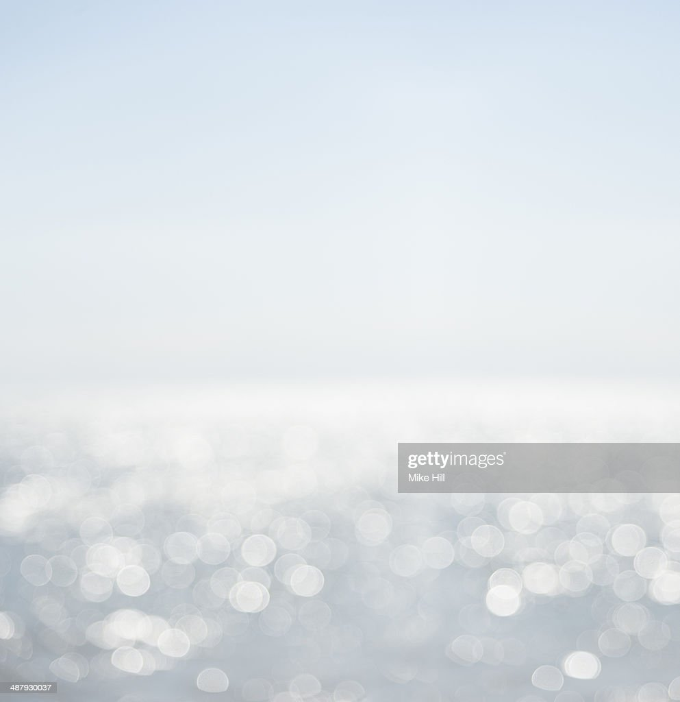Light reflections on the sea