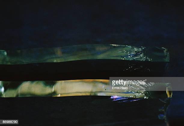 Light refracted in cracked glass September 1978