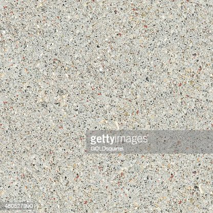 Light seamless beige concrete structure background with visible components : Stock Photo