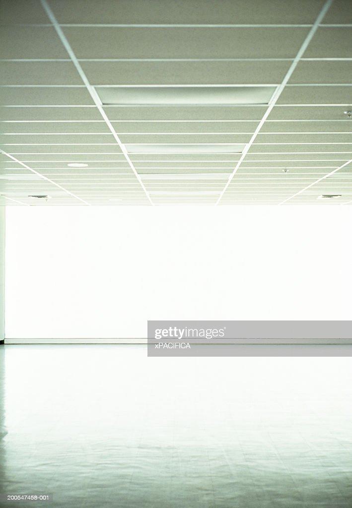 Light shining through airport window : Stock Photo