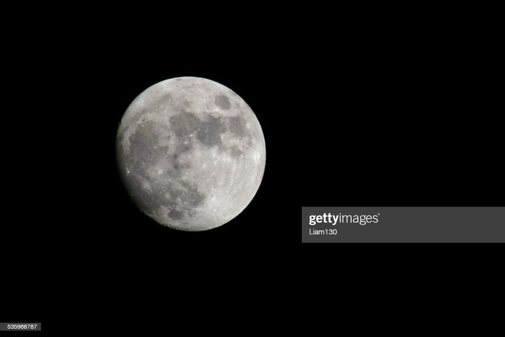 Light Side of the Moon : Stock Photo