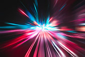 Light speed explosion illustration long exposure photography