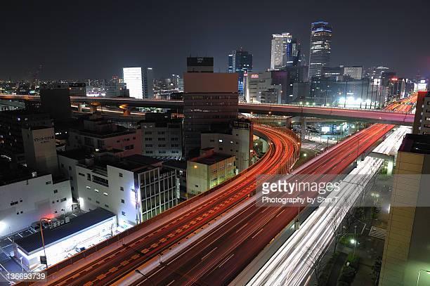 Light stream of Shinsuzaki JCT