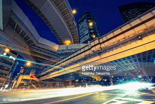 Light Stream Under the Elevated Expressway