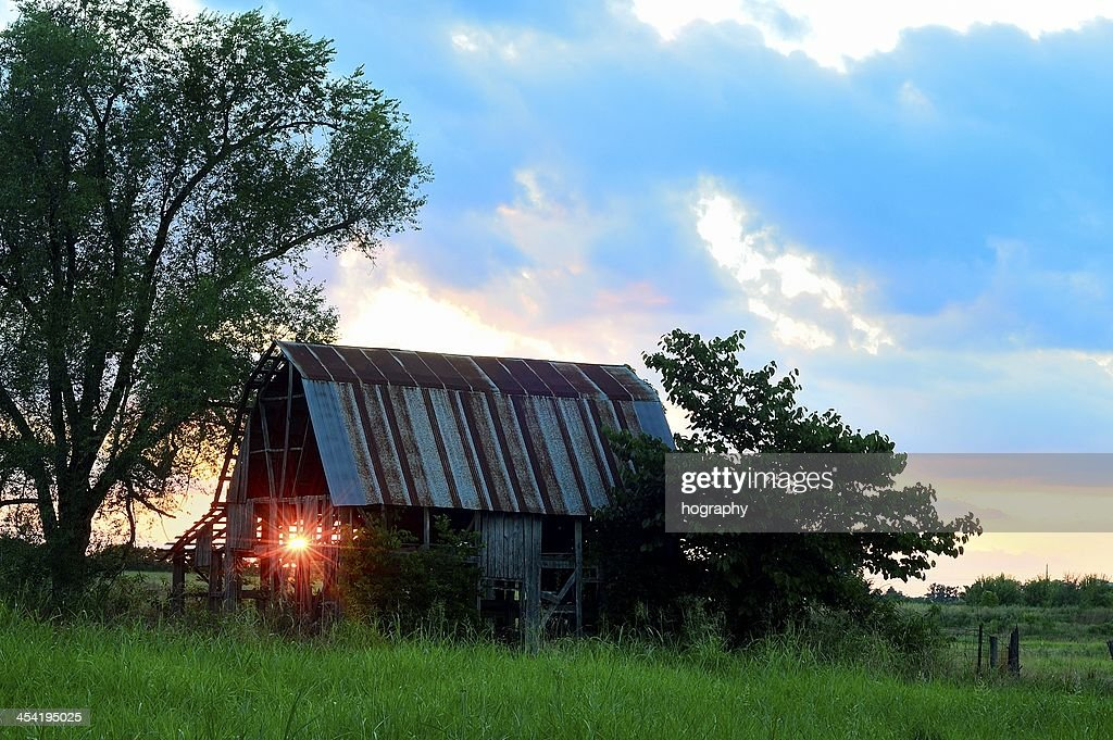 light through the barn : Stock Photo
