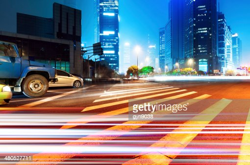 Light trails : Stock Photo