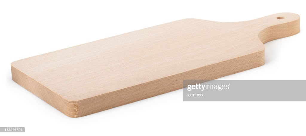 Light wooden square shaped cutting board