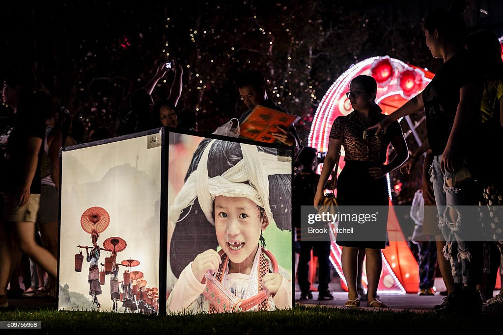 Lightbox display at the Chinese New Year Lantern Festival at Tumbalong Park on February 12, 2016 in Sydney, Australia. The lighting of lanterns is a centuries old tradition that marks the end of the Chinese New Year Festival.
