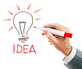 Lightbulb moment as inspiration strikes!