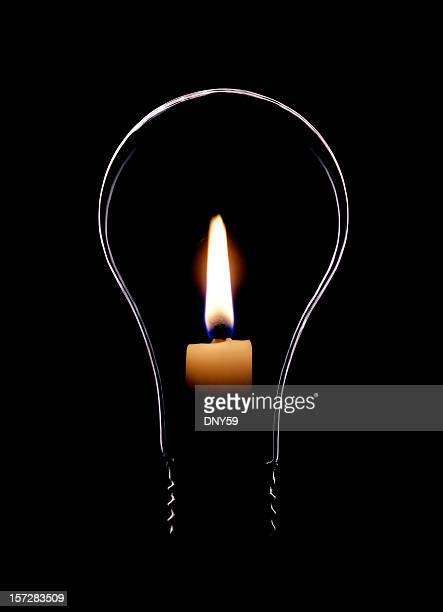 Lightbulb with Flame
