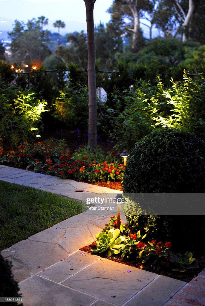 Lighted path way