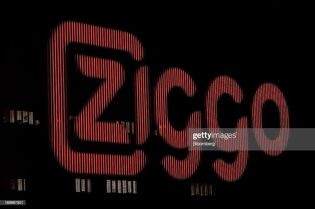 A light-emitting diode (LED) display shows the Ziggo NV logo on the exterior of the Ziggo Dome entertainment arena in Amsterdam, Netherlands, on Tuesday, Oct. 8, 2013. Cable-TV provider Ziggo, which is 28.5 percent owned by Liberty Global Plc, is pushing into the Dutch mobile market with low-priced packages, following a playbook pioneered by French discount operator Iliad SA. Photographer: Jasper Juinen/Bloomberg via Getty Images