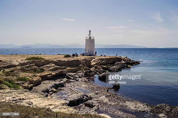 Lighthouse, Aegina, Greece
