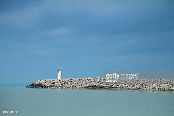 Lighthouse and breakwater