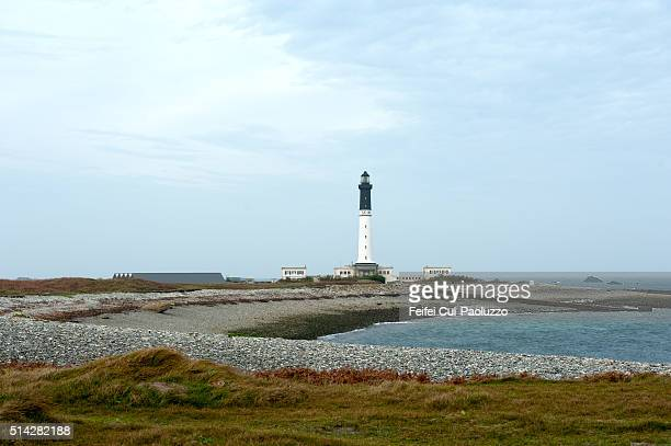 Lighthouse and Seascape of Île de Sein Brittany region in France