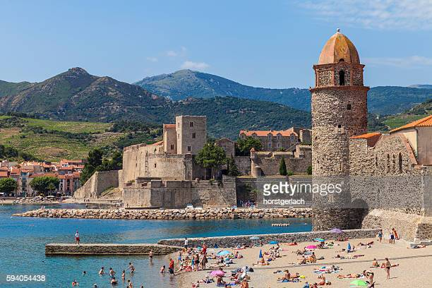 Lighthouse and spire of Collioure, France