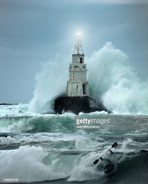 Leuchtturm und storm